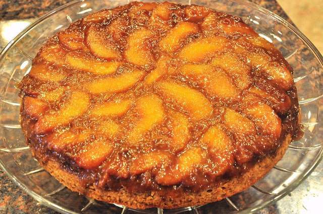 Peach Upside Down Cake Recipe For Cast Iron Skillet