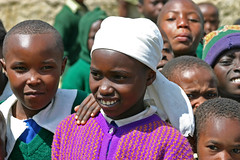 Enkelte børn på Githabai Primary School