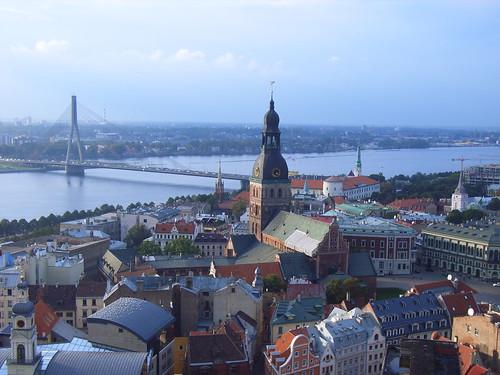 Riga Cathedral ,Daugava River - skyceleste