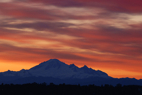 mountains sunrise washington britishcolumbia blueribbonwinner