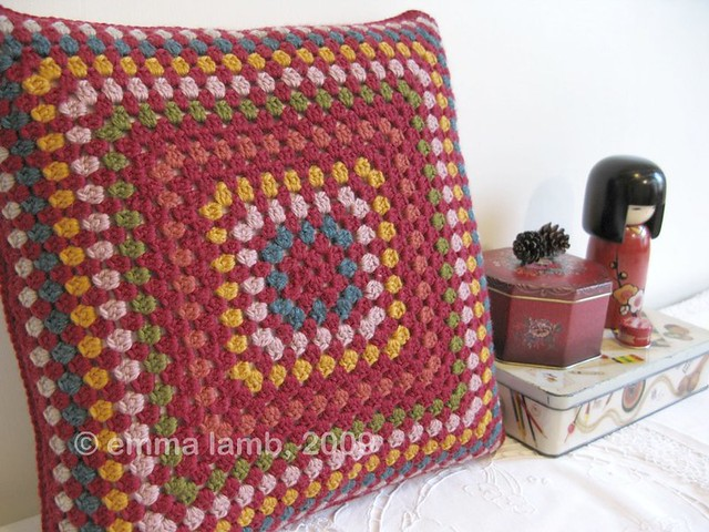 Delilah crochet cushion by Emma Lamb