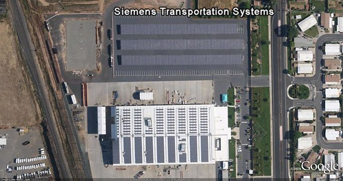 Siemens Transportation Systems from Google Earth