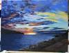 Laboratorio Artistico Mimina posted a photo:L. BelloniPesaro, tramonto sul mare. Olio su tela