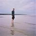 Richard in the sea at Kingsgate Bay