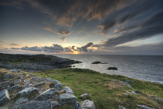 Tiree Sunset from Dun Mor Broch HDR