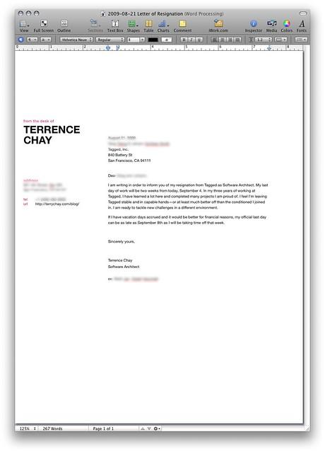 letter of resignation flickr photo sharing