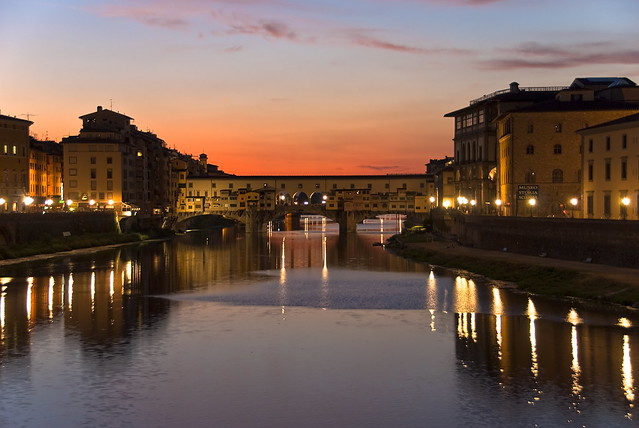 Ponte Vecchio after sunset