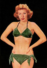 The Girl in the Green Velvet Bikini