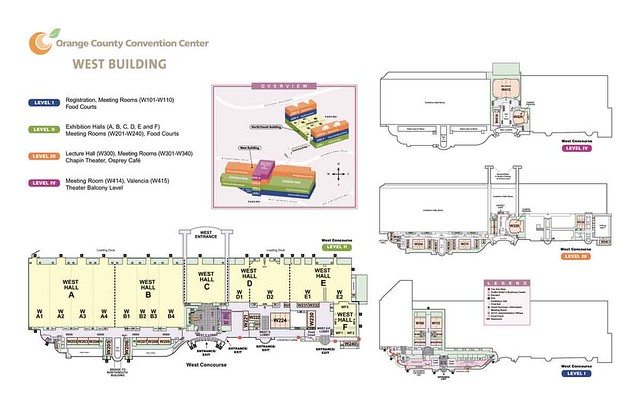Orange County Convention Center Floor Plan: Map Of The West Concourse
