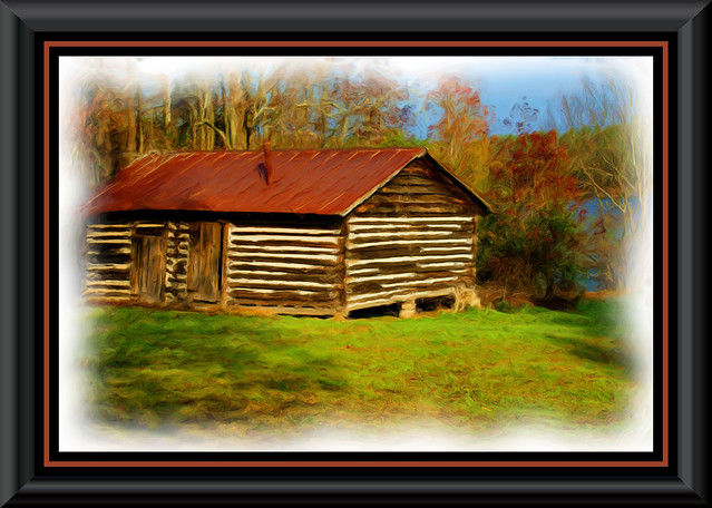Log Cabin Painting Flickr Photo Sharing