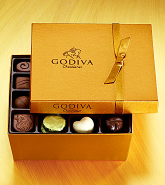 Special Godiva Chocolates box