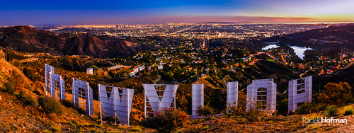 hollywood la losangeles hollywoodsign letters landscape cityscape city sunset sunrise dusk travel architecture destination landmark beverlyhills hills california usa panorama homedecoration walldecoration corporategifts decor roomdecoration officedecoration radekhofman