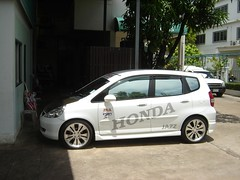 automobile, automotive exterior, vehicle, subcompact car, honda, city car, compact car, bumper, honda fit, land vehicle,