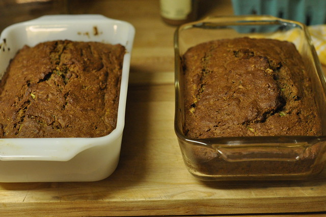two loaves zucchini bread
