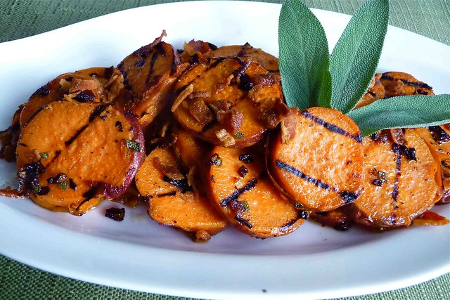 Grilled Sweet Potatoes with Pancetta & Sage Vinaigrette | Flickr ...