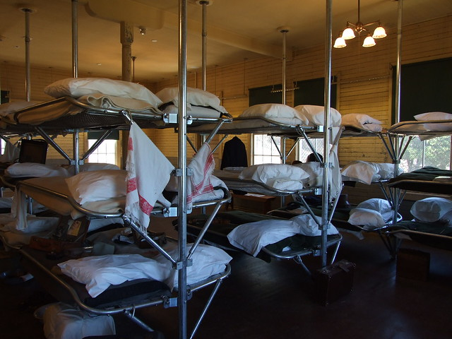 Bunk beds for those detained in the immigation station... from Flickr via Wylio