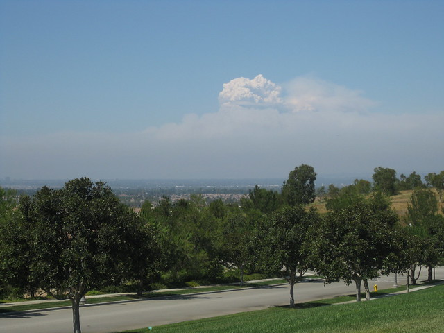 Station Fire Smoke Plume from Irvine