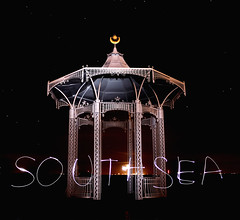 Band Stand Southsea - Light Writing