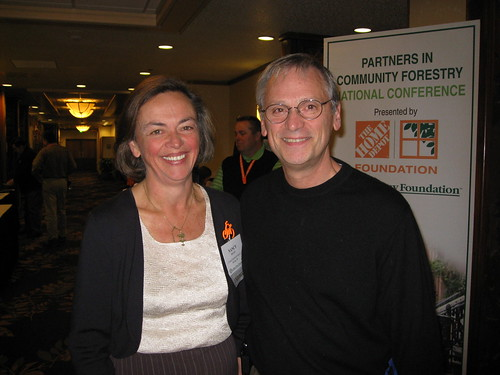 National Arbor Day Conference: 11.10.09, Nancy Buley and Earl Blumenauer (D-Ore.).