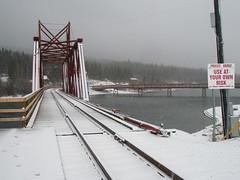 (Private) bridge in downtown Carcross, Yukon - part 2