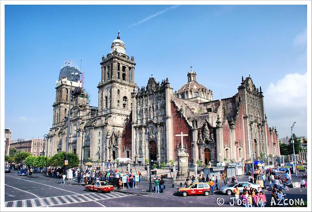 México DF. Catedral Metropolitana y Sagrario Metropolitano.