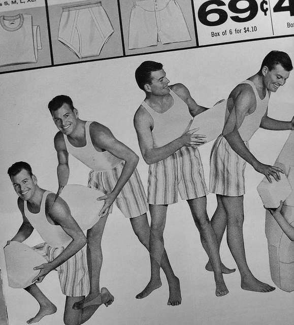 1950s Fruit Of The Loom vintage underwear men's boxer shorts advertisement