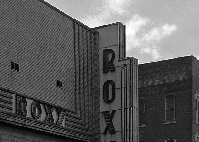 Clarksville, TN Roxy Theater in black and white | Flickr - Photo ...