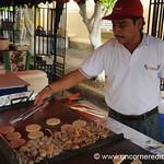 Man Cooking at the Weekend Food Festival - Juayua, El Salvador