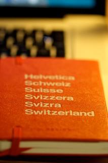 Helvetica Moleskine - Red