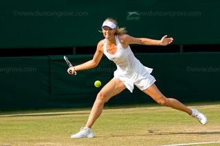 """""""The Former Champion Returns"""". Maria Sharapova, Centre Court, Wimbledon 2006."""