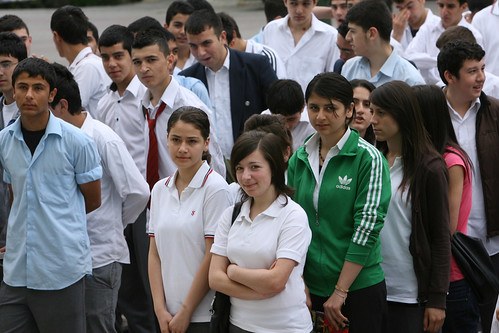 Students at Sisli Vocational High School