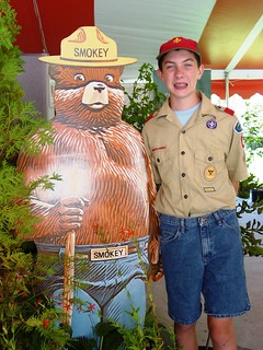 boy scout and smokey the bear