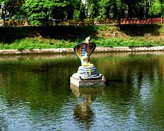 Bodhgaya -- By the pool, 1