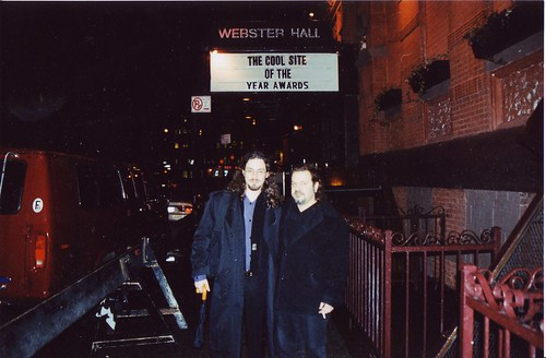With Derek Powazek at Cool Site of the Year Awards, 1997