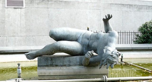 Bruxelles belgique 1938 43 la rivi re par aristide - Statue de jardin belgique ...