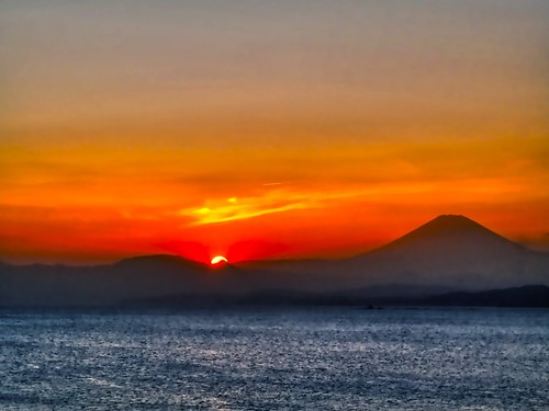 Fuji sunset from Enoshima