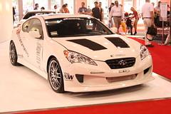 automobile(1.0), automotive exterior(1.0), hyundai(1.0), wheel(1.0), vehicle(1.0), automotive design(1.0), auto show(1.0), mid-size car(1.0), hyundai genesis coupe(1.0), bumper(1.0), sedan(1.0), land vehicle(1.0), coupã©(1.0), supercar(1.0), sports car(1.0),
