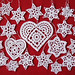Crochet Blizzard of Snowflakes Ornament set of 22 - original and handmade by Stylishornaments and Crafts