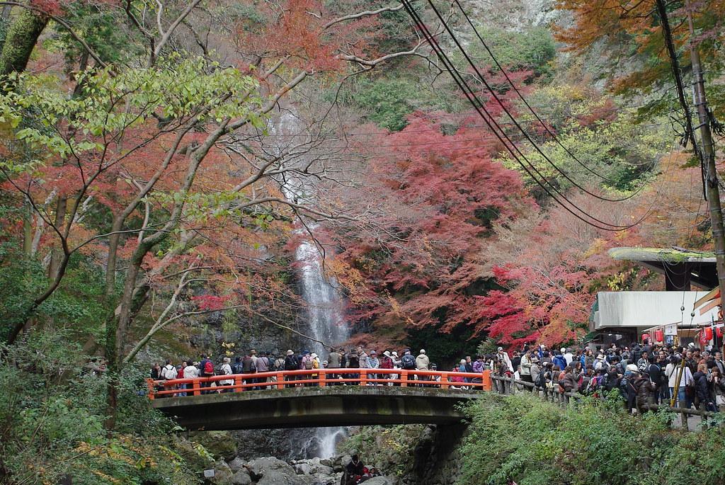 Water fall in Mino park, Osaka