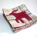 Red Reindeer Wool Coasters