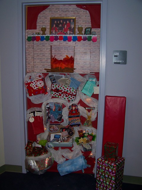 2009 holiday door decorating contest - a set on Flickr
