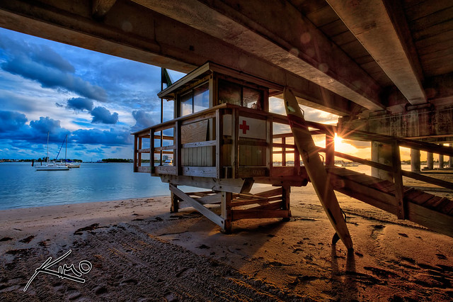 HDR Photo of a Lifeguard Tower on Singer Island