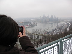 Blackberry and downtown Pittsburgh