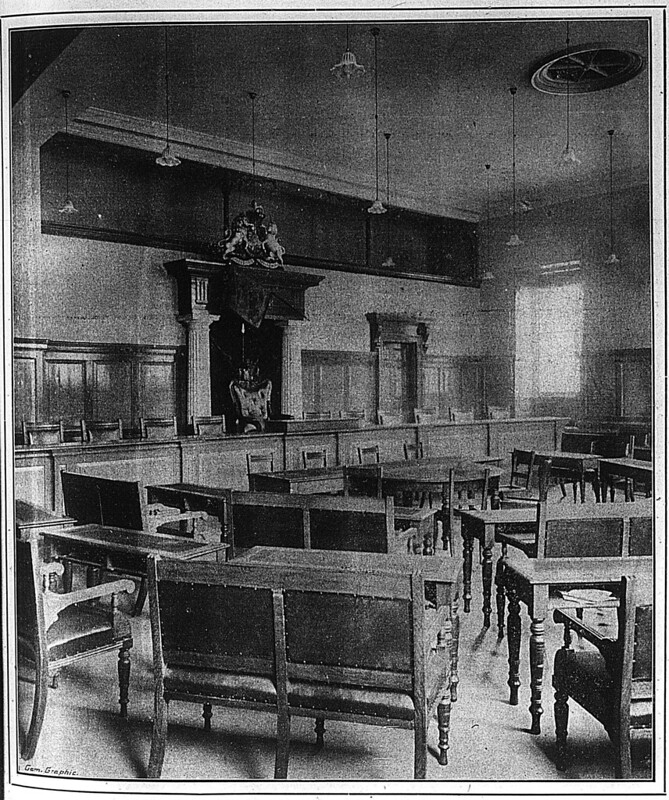 Former Council Chamber Cambridge Graphic 24 Nov 1900