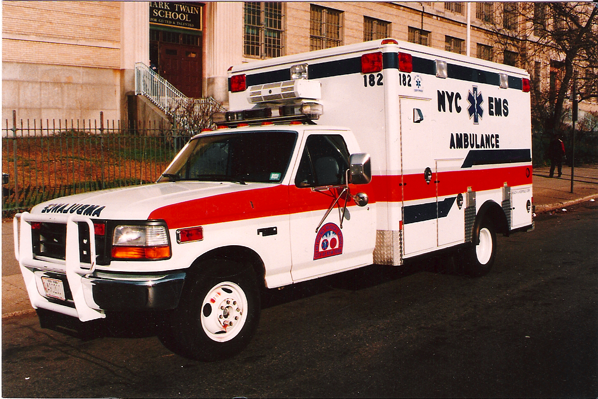 1995 nyc ems ford f 350 bus a photo on flickriver. Black Bedroom Furniture Sets. Home Design Ideas