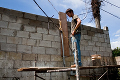 outdoor structure(0.0), roof(0.0), construction worker(0.0), wall(1.0), bricklayer(1.0), construction(1.0),