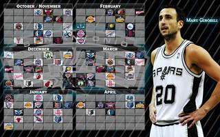 2009-2010 Spurs Schedule - Manu Ginóbili