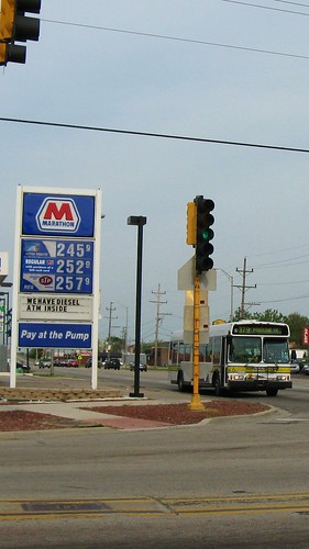 The intersection of 79th Street and Roberts Road. Justice Illinois. May 2009. by Eddie from Chicago
