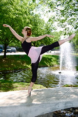 ballerina in fountain