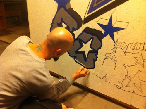 Cowboys custom painting (1/2 way)